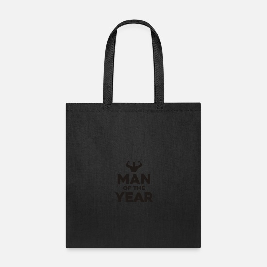Man Bags & Backpacks - Man Of The Year - Tote Bag black
