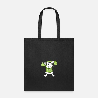 Picture Cartoon gum bulldog bodibilder animal wildlife fun - Tote Bag