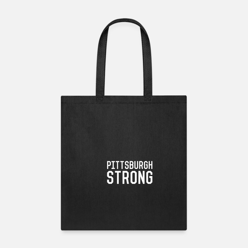 Pittsburgh Strong Tote Bag Black