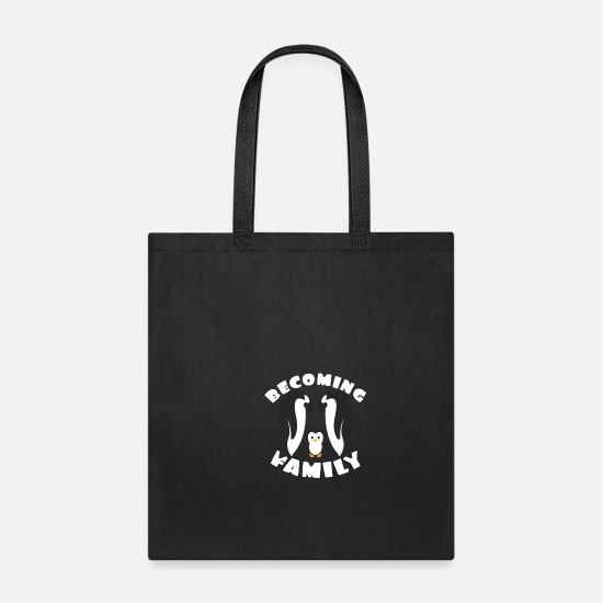 Family Bags & Backpacks - We will be a family pregnant pregnancy - Tote Bag black