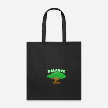 Bali Balance in Life Meditation Bonsai Tree Gifts - Tote Bag