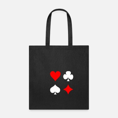 Pik Poker Cross Pik Heart Check - Tote Bag