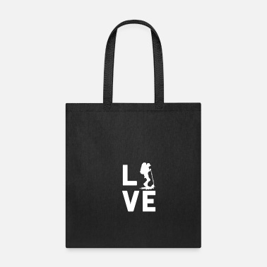 Africa HIKING LOVE - Graphic Shirt - Tote Bag