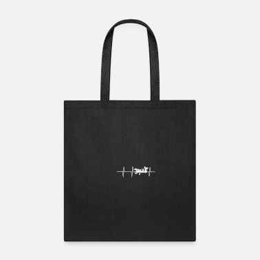 Boat Dragon Boat Heartbeat ECG Gift - Tote Bag