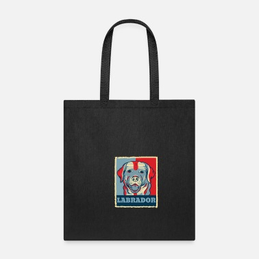 Obama Labrador Retriever Dog Retro Vintage Gift Present - Tote Bag