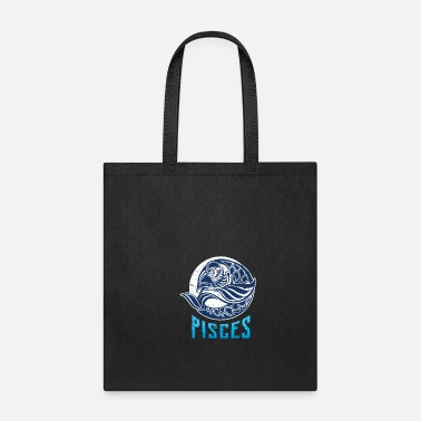 Sagittarius Zodiac sign Pisces Astrology stars fish - Tote Bag