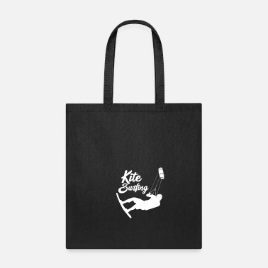 Skull Kite surfer on the stand - Blue Color - Tote Bag