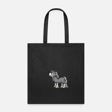 Horseshoe HAPPY HORSE Thoroughbred Lipizzan Horses Pony - Tote Bag