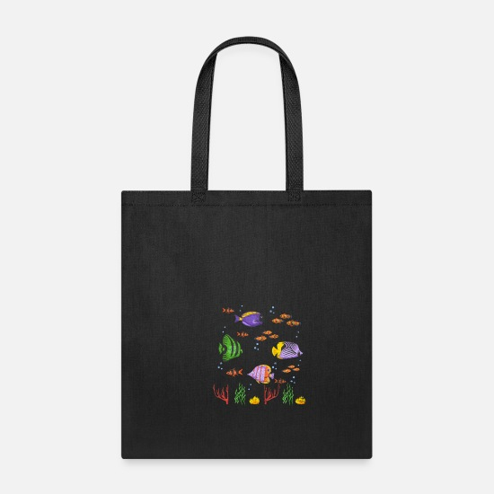 Aquarium Bags & Backpacks - Fish Aquarium - Tote Bag black