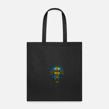 Viking Sweden Longboat and Bearded Viking Man Gift - Tote Bag