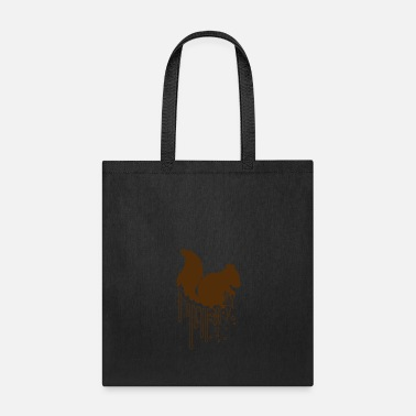 Wet wet drop graffiti spray stamp black squirrel roden - Tote Bag