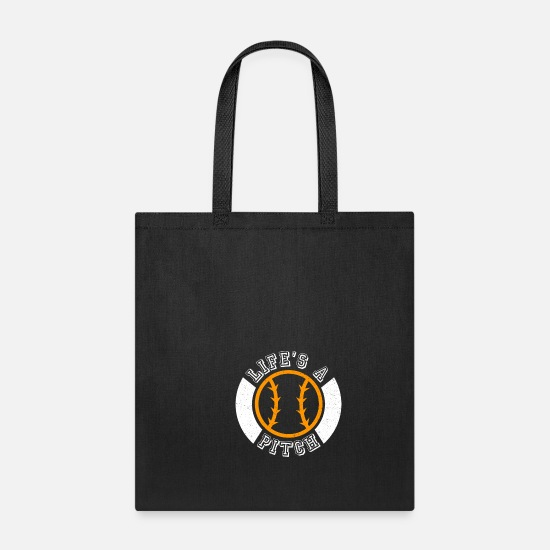 Softball Bags & Backpacks - Life's A Pitch - Tote Bag black