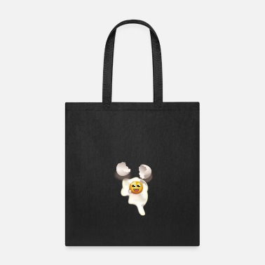 Eggshell Fried egg with smiley and broken eggshell - Tote Bag