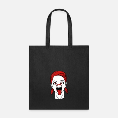 Squint crazy girl squint female woman girl sexy cute beau - Tote Bag