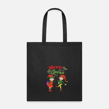 Suit Funny Cool Cute Christmas Xmas Elf Elves Gifts - Tote Bag