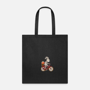Candy Boys Bunny Driving a Bicycle design Funny Cycling - Tote Bag