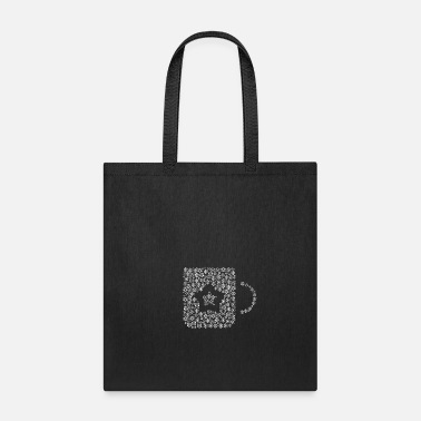 Form Snow Wordcloud of a cup form (white) - Tote Bag