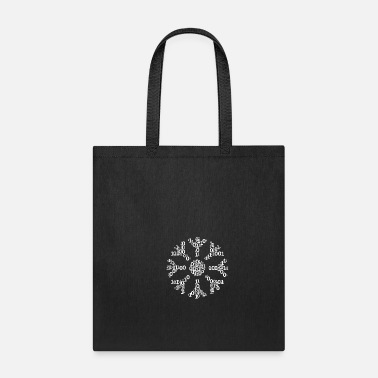 Stylish Binäre Wortwolke in snow Form (white) - Tote Bag
