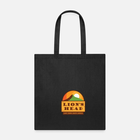 Town Bags & Backpacks - Lion's Head, Cape Town South Africa Shirt - Tote Bag black