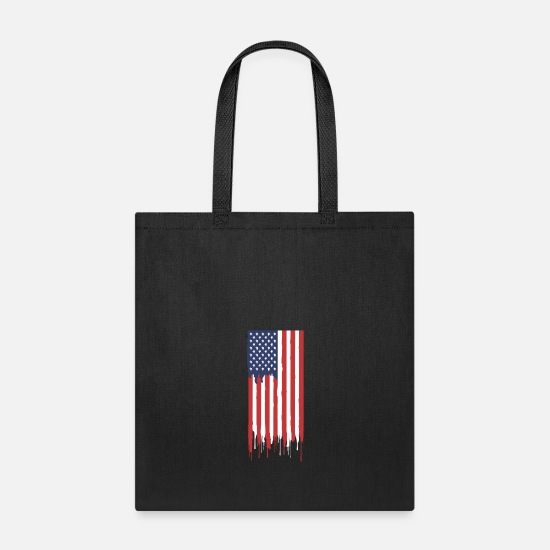 Flag Bags & Backpacks - American FLAG - Tote Bag black