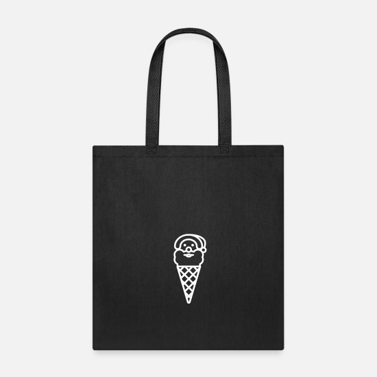 Gift Idea Bags & Backpacks - Santa in a waffle - Tote Bag black