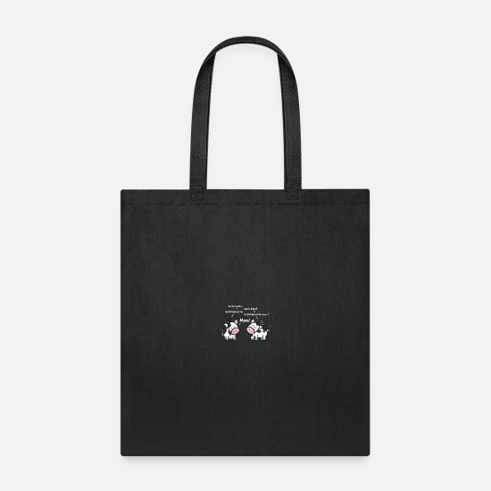 Cow Bags & Backpacks - Cow Jokes - Tote Bag black