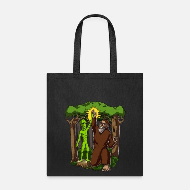 Ufo Alien Bigfoot Fantasy UFO Conspiracy - Tote Bag