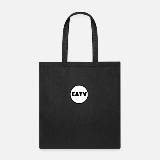 Exclusive Bags & Backpacks - Exclusic Eatv logo Merch! - Tote Bag black