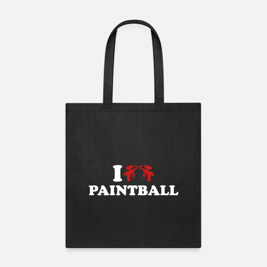Love Bags & Backpacks - Paintball - Tote Bag black