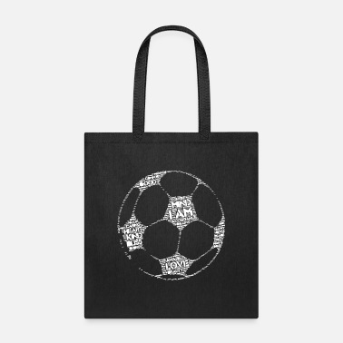High Frequency FOOTBALL WITH HIGH FREQUENCY I AM AFFIRMATIONS - Tote Bag