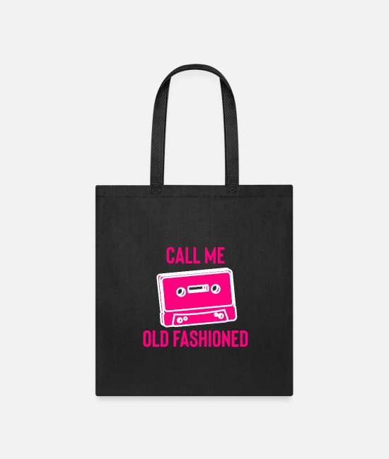 Old Fashioned Bags & Backpacks - Call me Old Fashioned - Tote Bag black