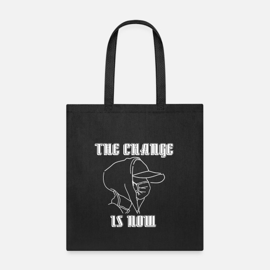 Birthday Bags & Backpacks - Shirt Design climate change is now save world - Tote Bag black