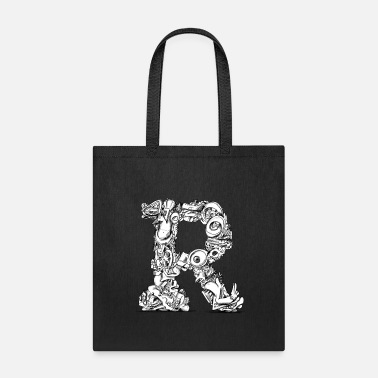 R - Letter/Monogram - Tote Bag