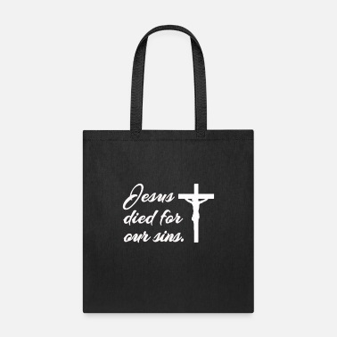Savior Jesus is Lord, saves, bible, Christ, God, church - Tote Bag