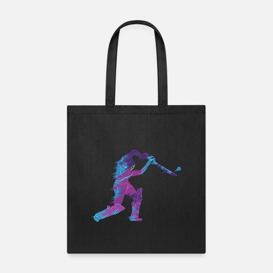 Catcher Bags & Backpacks - under hit baseball F - Tote Bag black