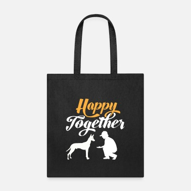 Silhouette Happy Together - Pharaoh dog & dog owners - Tote Bag