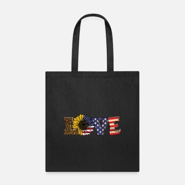 Leopard love america - Tote Bag