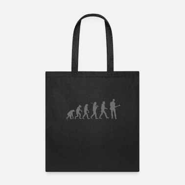 Evolution egitarre guitar bassist bass bass bass evolution - Tote Bag