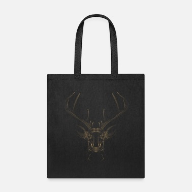 Three Hauses Golden Deer Head - Tote Bag