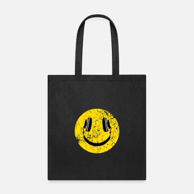 Smiley Headphones Music Lover Headphones Smiley - Tote Bag