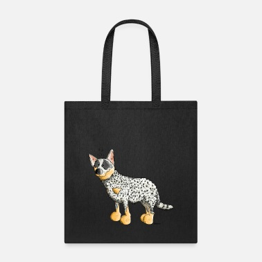 Australian Cattle Dogs Cartoon Funny Australian Cattle Dog - Dogs - Tote Bag