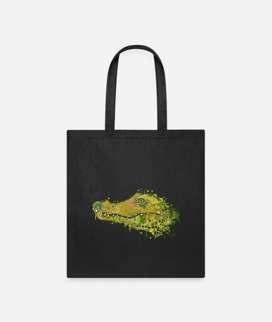 Design Bags & Backpacks - Crocodile Graffiti - Tote Bag black