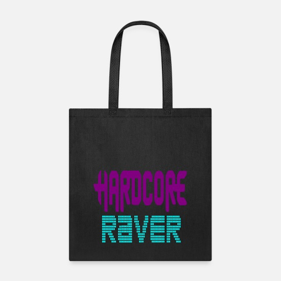 Loud Bags & Backpacks - hardcore raver - Tote Bag black
