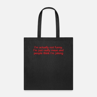 I'm actually not funny T Shirt - Tote Bag