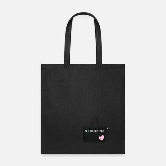 Totes Bags & Backpacks - Black Tote with Heart - Tote Bag black