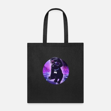 Retrowave retrowave dog - Tote Bag