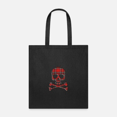 Bone SKULL AND PLAIDE BONES - Tote Bag