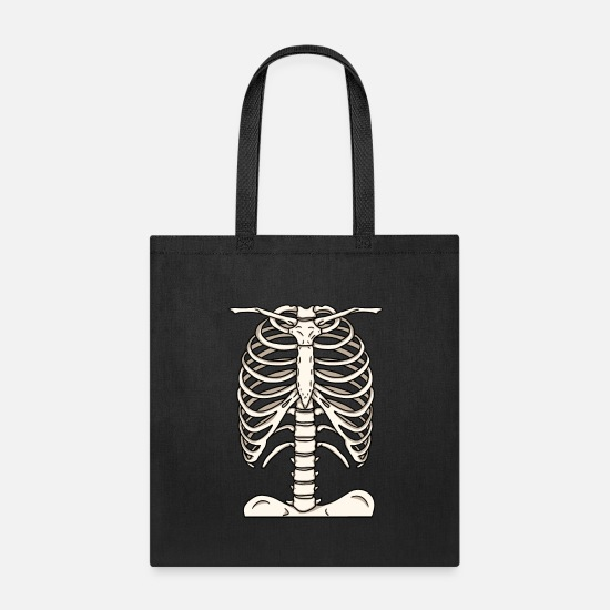 Gift Idea Bags & Backpacks - Skeleton Skull Bones Halloween Costume Party Gift - Tote Bag black