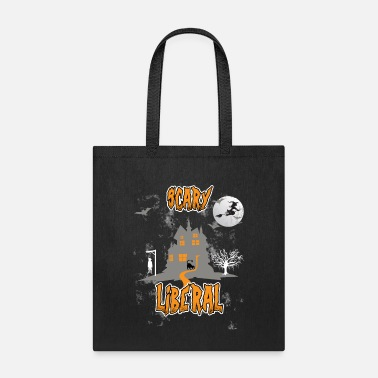 Drawing halloween scary liberal - Tote Bag