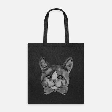 Catstagram Black and white cat portrait - Tote Bag